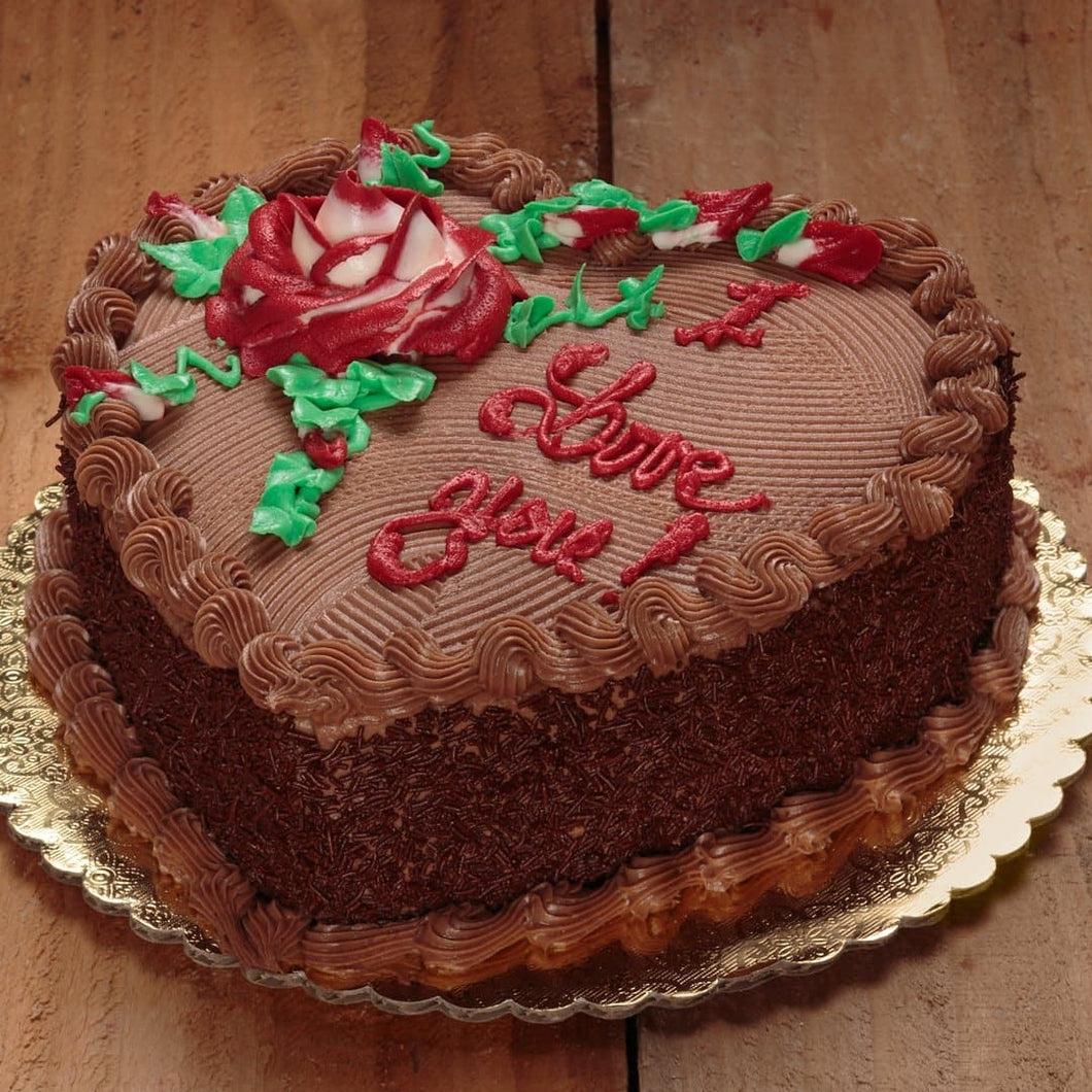 Chocolate Truffle Heart Cake - LayerBite