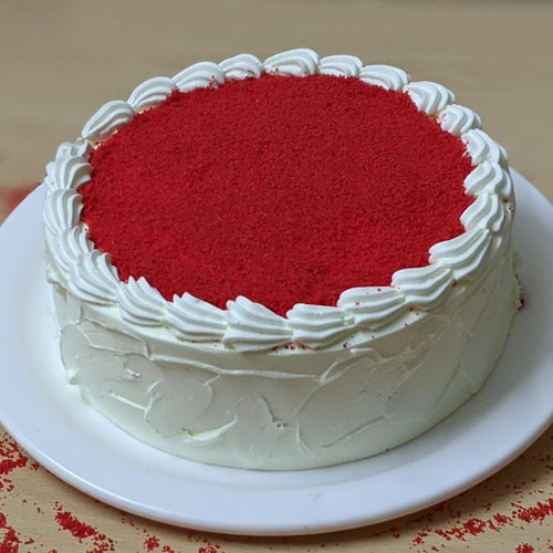 Eggless Hand Touch Red Velvet Cake - LayerBite