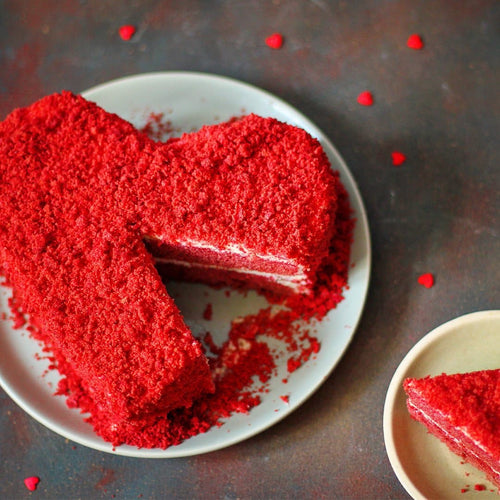 Eggless Red Velvet Heart - LayerBite