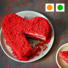 Load image into Gallery viewer, Heart Shape Red Velvet Cake cake 100% FRESH CAKE | FREE DELIVERY