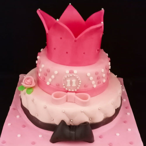Pink Princess Theme Cake - LayerBite