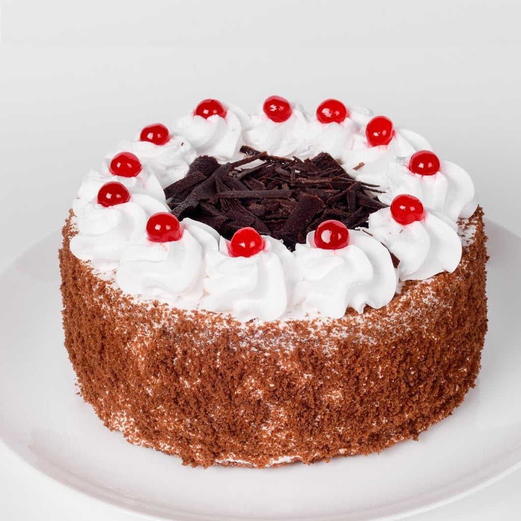 Rustic Black Forest Eggless Cake - LayerBite