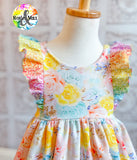 Rainbow Spring - Ivy Flutter Dress