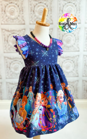 PREORDER -Ice Adventures-Sisters -Border Dress