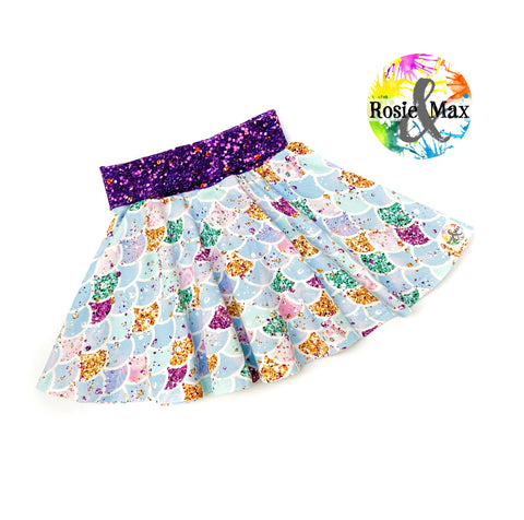 Mermaid Circle Skirt  - 4 - RTS
