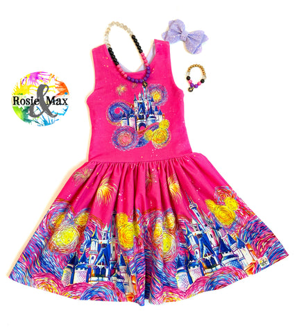 PREORDER- Starry Castle - Kyra Border Dress w/PANEL