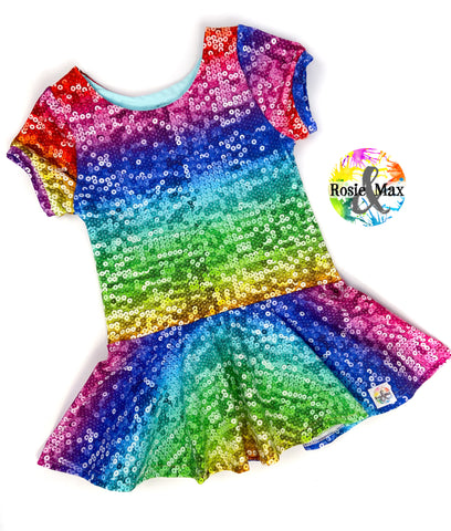 MTO - Rainbow Sequin - Isla - Tunic