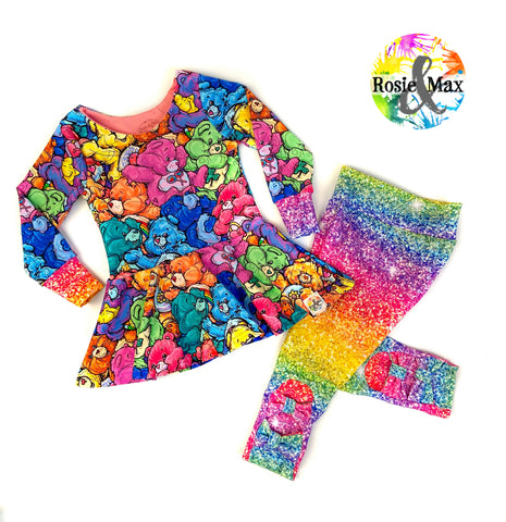 Colorful Bears - Isla Tunic NO panel