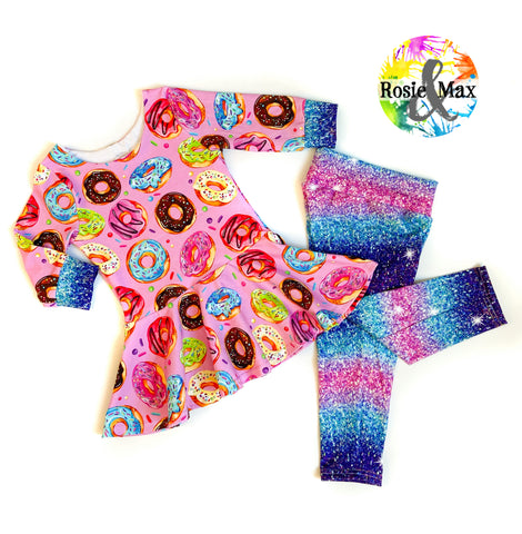 Donuts and Glitter - Size 6 - Set - RTS