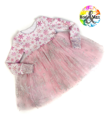 Pink Snowflake - Amelia Dress - Size 2