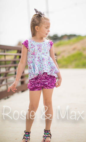 Sequin Bubble Shorts