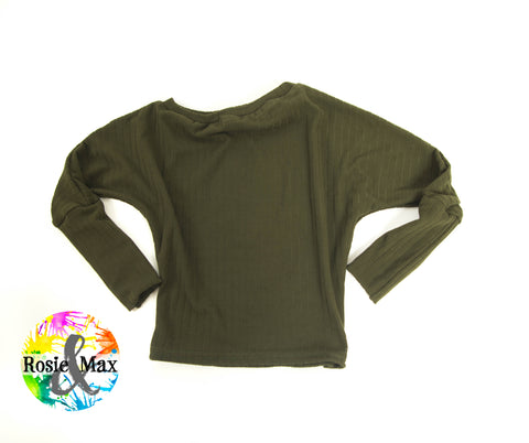 Hideaway Top-Olive- Fall Collection