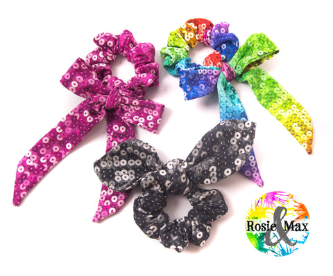 Sequin Scrunchies-Set of 3