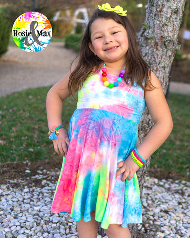 Neon Tie Dye - Luna - Dress