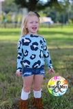 Hideaway Top-BLUE Animal Spot- Fall Collection
