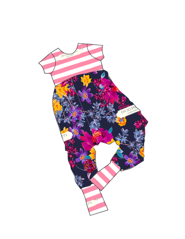 Fall Floral-Alley Cat Romper-PREORDER