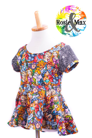 Stained Glass-Luna Peplum or Tunic