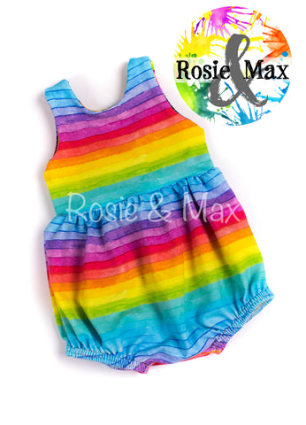 Summer Collection-Neon and Rainbow Bubble Romper