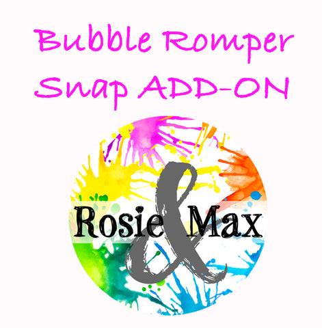 Bubble Romper Snap-ADD-ON