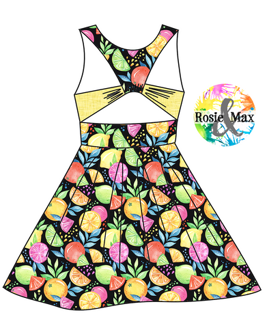 PREORDER - Spring/Summer - Retro Fruit - Riley DRESS