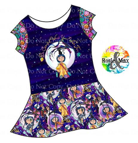 PREORDER - Button Eyes - Careful - Isla Dress-w/PANEL