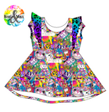 PREORDER - Rainbow Friends - Ivy Flutter Dress