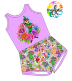 PREORDER - Sherwood Forest - Purple - Laney Romper