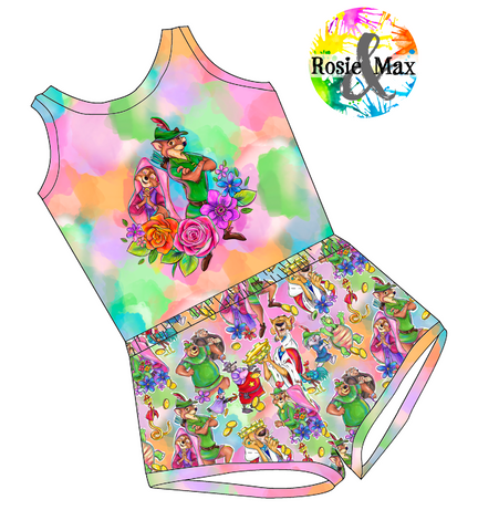 PREORDER - Sherwood Forest - Colorful - Laney Romper