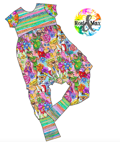 PREORDER - Sherwood Forest - Alley Cat Romper
