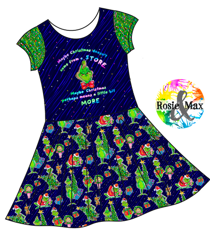PREORDER - Who-Ville  - Store - Isla Dress-w/PANEL