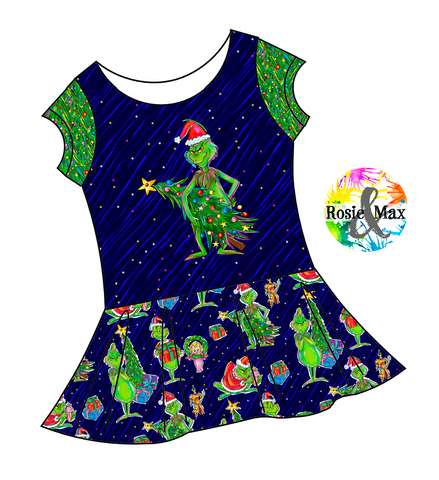 PREORDER - Who-Ville - Tree -Isla Tunic-w/PANEL