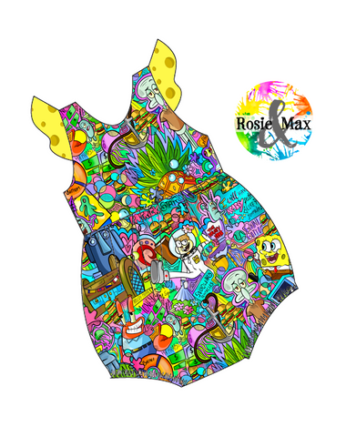 PREORDER - Pineapple Under the Sea - Bubble Romper
