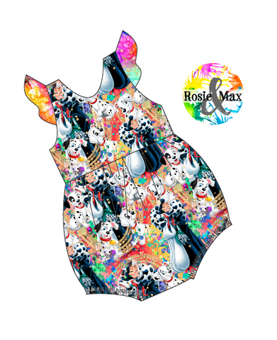 PREORDER - Spotted Puppies - Bubble Romper