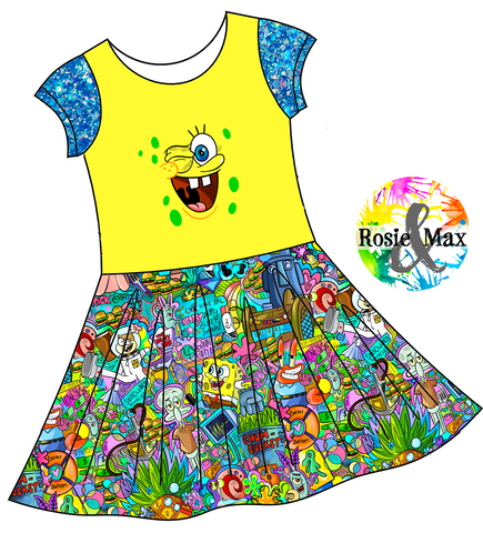 PREORDER - Pineapple Under the Sea - Isla DRESS w/panel