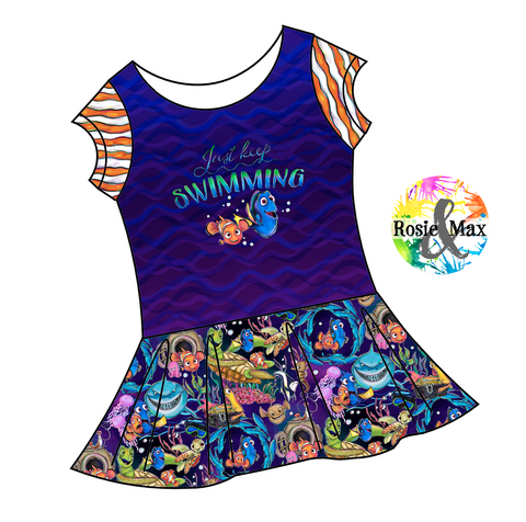 PREORDER - Just Keep Swimming - Isla Tunic w/PANEL