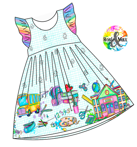 PREORDER - Love School - Border Dress