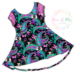 PREORDER - Seasonal Prints - Paisley's - Black -  Luna Dress