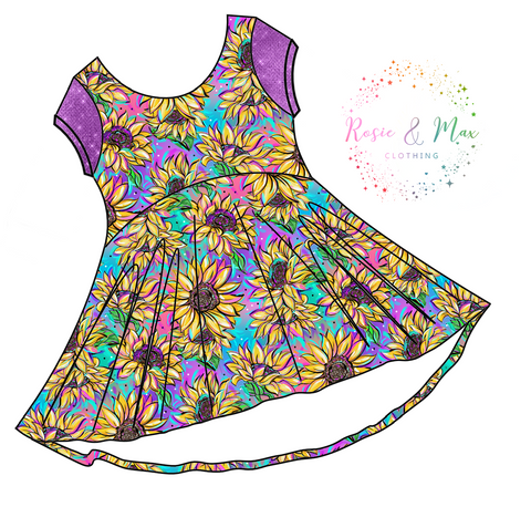 PREORDER - Seasonal Prints - Summer Sunflowers - Luna Tunic