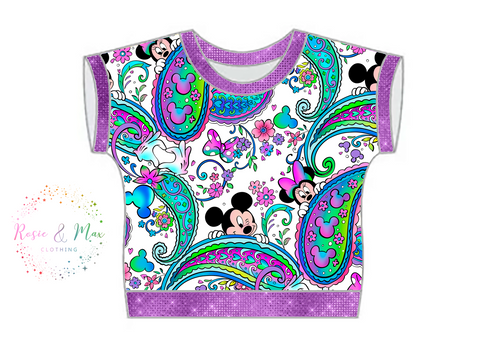 PREORDER - Seasonal Prints - Paisley's - White - WOMEN'S Dolman Top