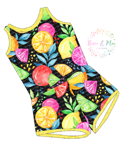 PREORDER - Seasonal Prints - Retro Fruits  - Laney Romper