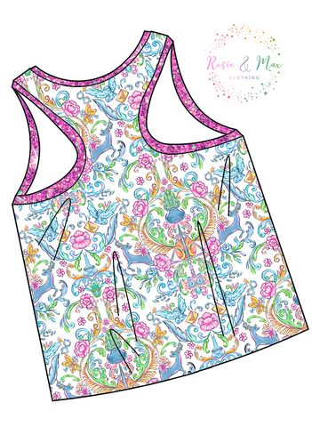 PREORDER - Whimsical Wizard - WOMEN'S Racerback Tank