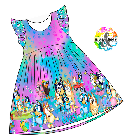 PREORDER - Hilarious Heelers - Colorful - Border Dress