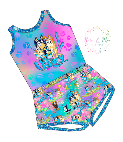 PREORDER - Hilarious Heelers - Colorful - Laney Romper