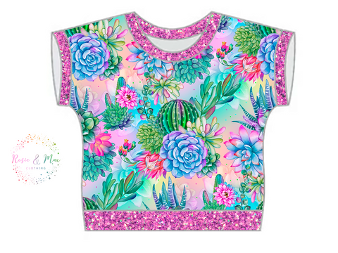 PREORDER - Seasonal Prints - Succulents - WOMEN'S Dolman Top