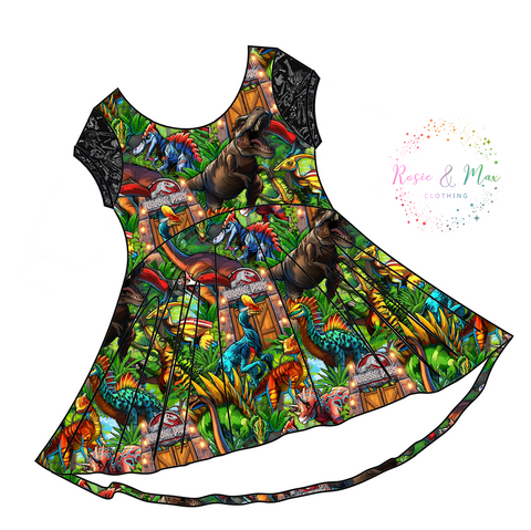 PREORDER - Dinosaur Park -  Luna Dress