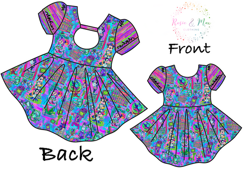 PREORDER - Haunted Mansion - Colorful - Amelia Dress