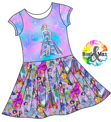 PREORDER - Masquerade Ball - Elsa - Isla DRESS w/panel