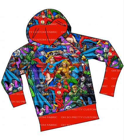 PREORDER-Super Heros-Grow with Me Raglan