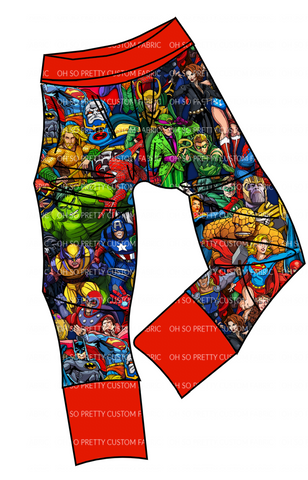 PREORDER-Super Hero-Grow with Me Joggers