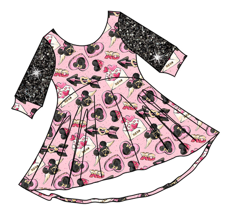 PREORDER-Be My Minni-tine-Luna Dress-Love Letters